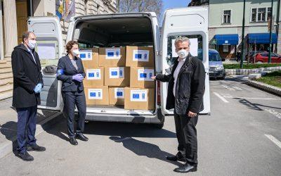 Dostavljeno 7500 testova na COVID-19, i počela isporuka 15000 maski za medicinsko osoblje koje je obezbijedila EU